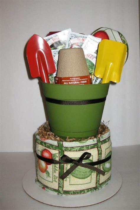 kitchen basket ideas herb garden kitchen towel cake 35 00 via etsy