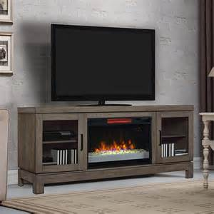 Berkeley infrared electric fireplace tv stand w glass in spanish gray