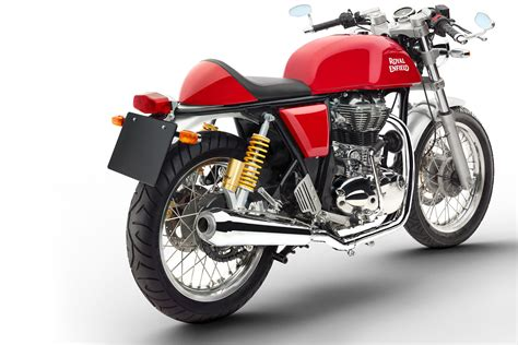Motorrad Test Royal Enfield by Continental Gt 535 Efi Caf 233 Racer Rot Red Rouge Royal