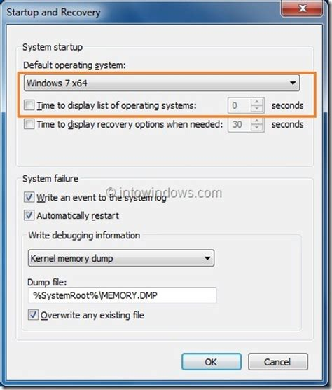 how to skip or hide windows boot manager in vista and
