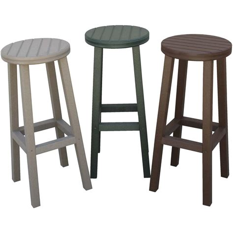 eagle one recycled plastic patio bar stool brown