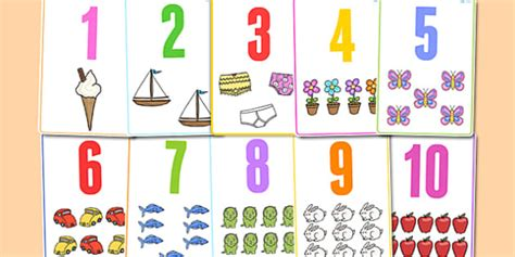 Flash Card Numbers 30 99 Template by Number Picture Flashcards To 30 Number Flashcards To 30