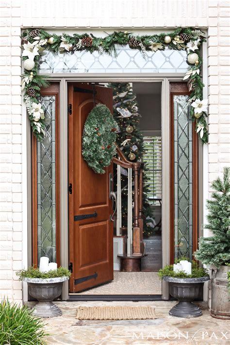 Christmas Home Tour Maison De Pax Front Porch Door