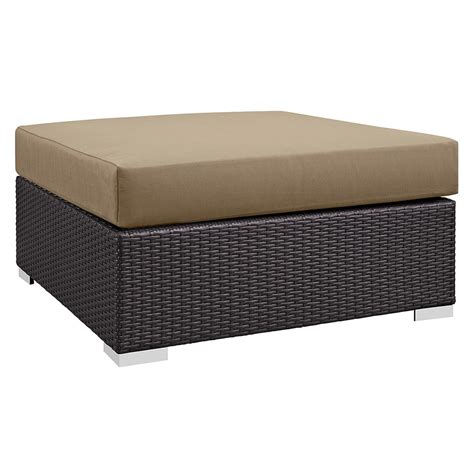large square fabric ottoman cabo modern outdoor mocha lg square ottoman eurway
