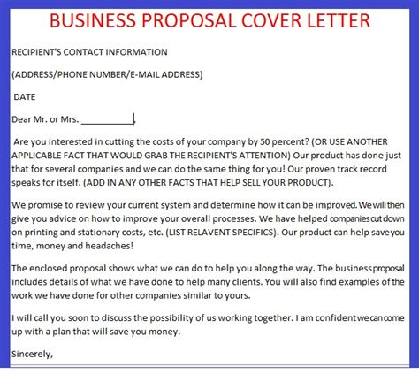 cover letter  proposal writing    order