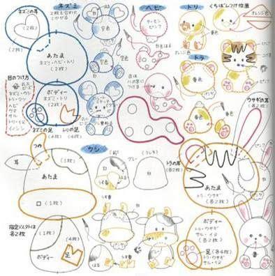 pattern for making felt animals artesanato feltro and ems on pinterest