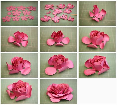 How To Make A 3d Flower Out Of Construction Paper - bits of paper 3d dublin and hybrid paper tea roses
