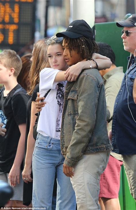 celebrity pda meaning jaden smith and girlfriend sarah snyder turn a shopping