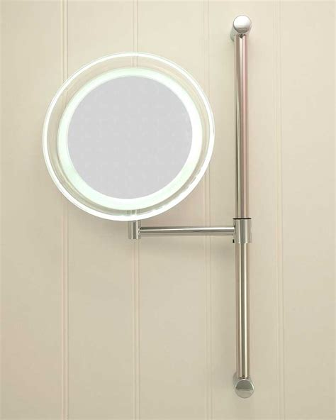 battery operated bathroom mirrors battery operated bathroom mirror contemporary battery operated illuminated cool white led