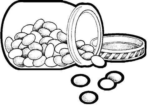 jelly beans in a jar coloring page coloring home