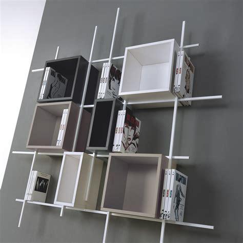 libreria a parete sospesa libreria libra comp 32 da parete sospesa in acciaio design