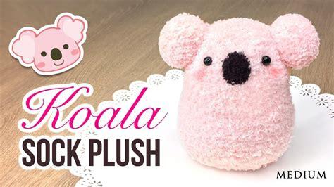 easy diy sock plush diy koala plush make a diy using socks