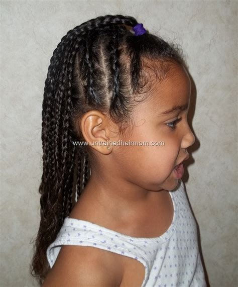 corn row kids cute easy cornrow style for kids