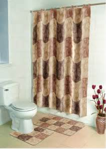 Bathroom Shower Curtains Sets Brown Floral Casual Bathroom Shower Curtain Bath Contour Rug 15 Set