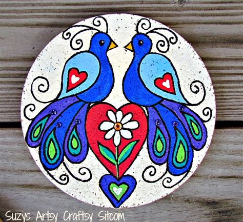 Hand Painted Decorative Furniture by Love Birds Decorative Folk Art With Free Patterns