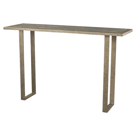 shagreen console table cavill modern vintage espresso faux shagreen console table