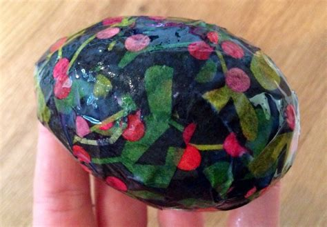 Patterned Tissue Paper Decoupage - decoupage egg patterned tissue paper easter egg
