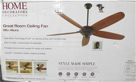hton bay altura 68 fan hton bay altura 68 in oil rubbed bronze ceiling fan 68168 open box