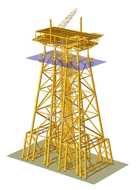 offshore jacket design exle conceptual design for repair of large jacket platform