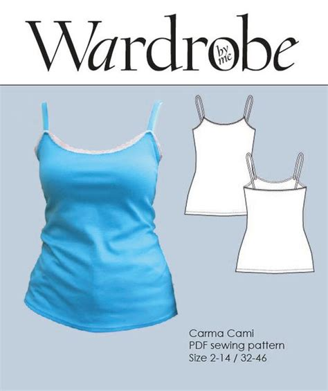 jersey camisole pattern women s cami strap top pdf sewing pattern womens strap