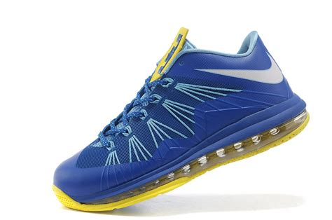 blue and yellow basketball shoes nike lebron x air max low basketball shoes blue yellow
