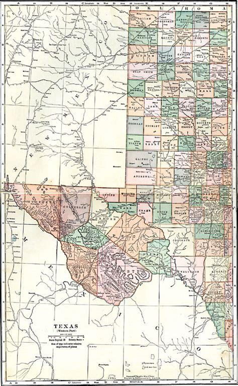 1800 texas map western texas