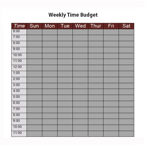 time budget template 8 exles of bi weekly budget templates sle templates
