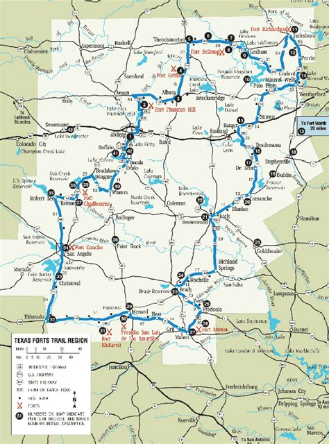 texas forts map texas forts map my