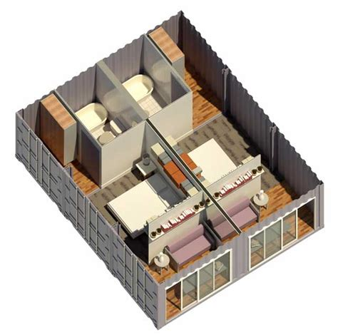 Open Home Floor Plans Shipping Container Village One Community Open Source
