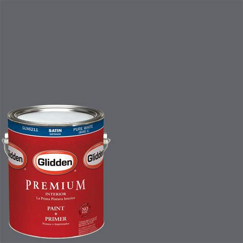 glidden premium 1 qt satin colors exterior base paint gl6913 04 the home depot
