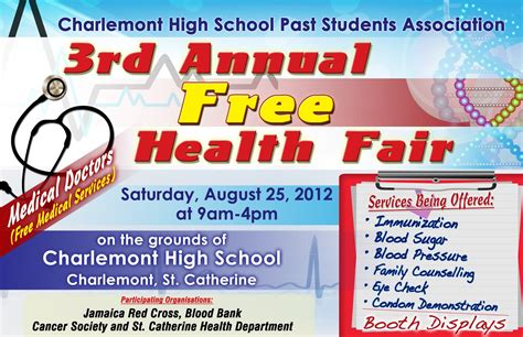 health fair flyer templates free dacameron printing graphic design service