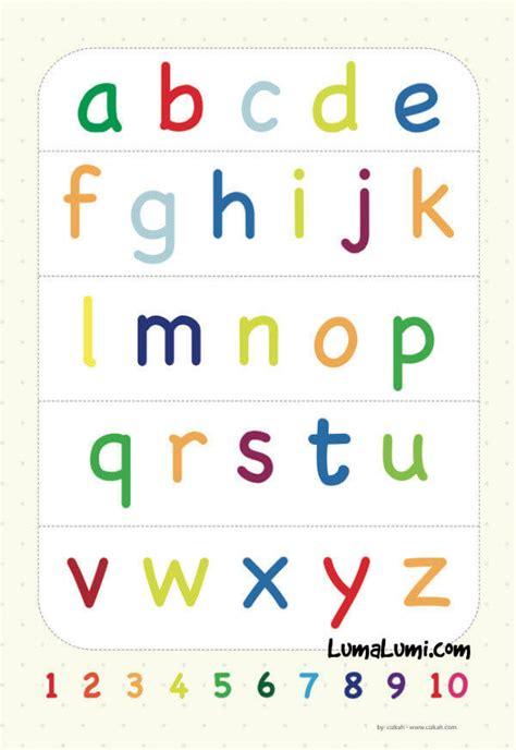 Spelling Belajar Huruf Dan Mengeja poster belajar huruf abjad anak anak huruf kecil toko muslim title