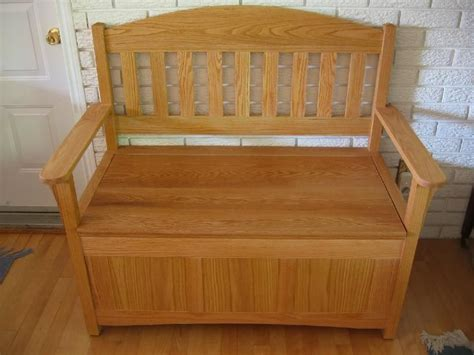 deacons bench toy boxchest   woodworking bench