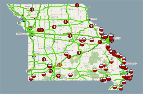modot road conditions map toll rises as flood waters fall interstates amtrak reopen