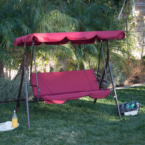 3 person swing hammock 3 person patio swing outdoor canopy awning yard furniture