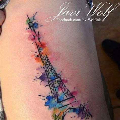 eiffel tower tattoo 17 best images about watercolor tattoos on