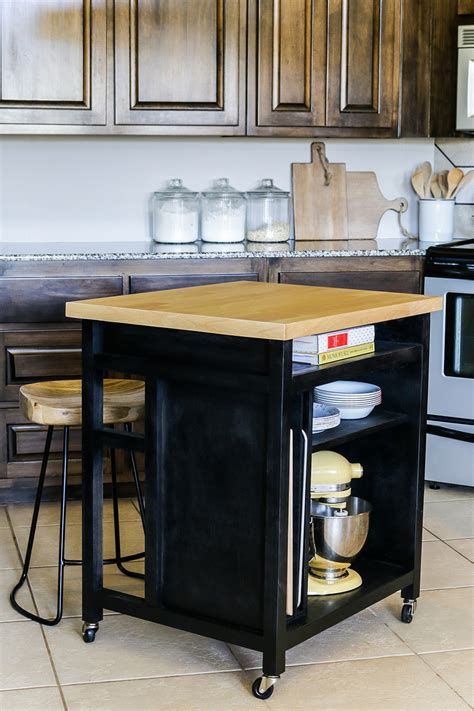 wheeled kitchen island diy rolling kitchen island