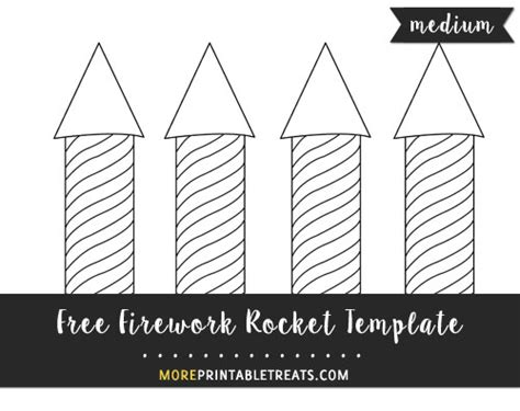 free firework rocket template medium size shapes and