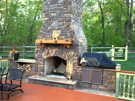 interior outdoor fireplace construction deco
