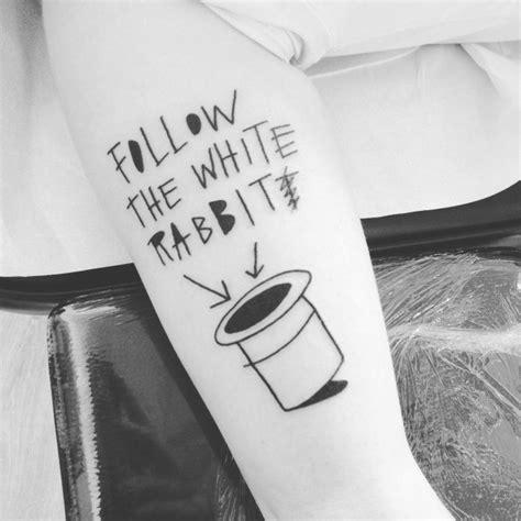 simple follow the white rabbit tattoo best tattoo ideas