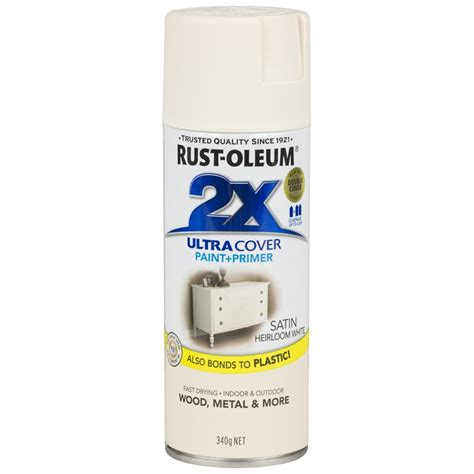 spray paint white rust oleum 340g ultra cover 2x satin spray paint