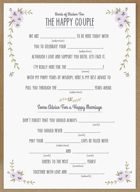 printable wedding shower mad libs pinterest discover and save creative ideas