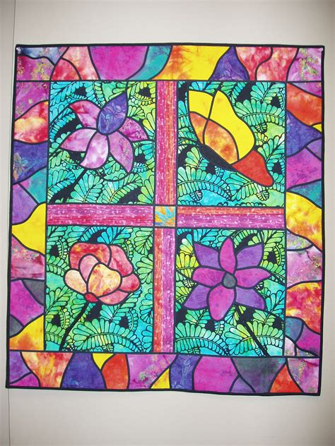 Stained Glass Quilt by Stained Glass Wall Hanging Quilt