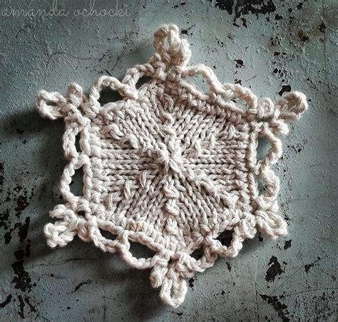 snowflake knitting pattern ornament holiday ornaments knitting patterns in the loop knitting