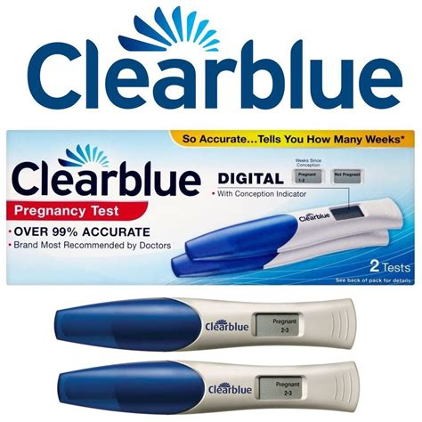 Harga Test Pack Clear Blue clearblue digital pregnancy test with weeks indicator 2 pack