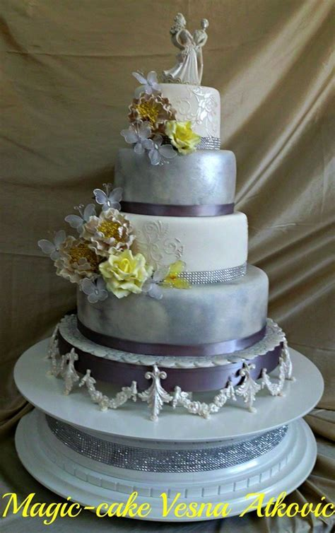 yellow and silver wedding cakes yellow and silver wedding cakes idea in 2017 wedding