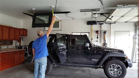 Jeep Wrangler Hardtop Lift Concealed Jeep Hardtop Lift With Electric Hoist