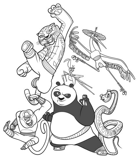 Kung Fu Panda Coloring Book Pages | free printable kung fu panda coloring pages for kids