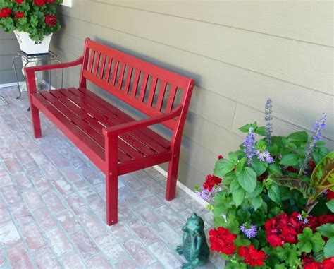 front porch benches front porch red bench in the north pinterest