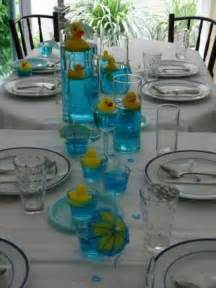 Simple centerpieces duck themed baby shower pinterest